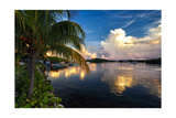 Cloud Reflection, La Parguera, Puerto Rico Photographic Print by George Oze