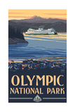 Olympic National Park PSF Ferry Photographic Print by Paul A Lanquist