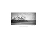 Black And White Photo Of Seaside Heights Boardwalk Photographic Print by Annmarie Young
