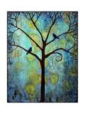 Tree Print Twilight Blue Photographic Print by Blenda Tyvoll