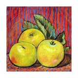 Three Yellow Apples Photographic Print by Blenda Tyvoll