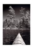 Lake Kayaking BW Photographic Print by Steve Gadomski