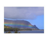 Rainbow Over Hanalei Bay Photographic Print by Ronald A Dahlquist