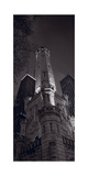 Chicago Water Tower Panorama B W Photographic Print by Steve Gadomski