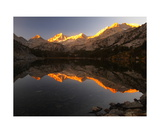 Little Lakes Valley Peaks Reflected In Long Lake Photographic Print by Ronald A Dahlquist