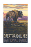 Great Sand Dunes National Park Bison Pal 2989 Photographic Print by Paul A Lanquist