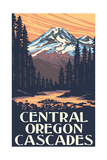 Central Oregon Cascades Mountains Pal 2891 Photographic Print by Paul A Lanquist