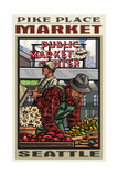 Pike Place Market Seattle Photographic Print by Paul A Lanquist