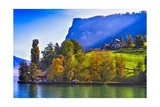 Lake Lucerne Fall Morning Photographic Print by George Oze