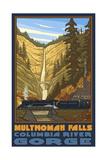 Multnomah Falls Oregon Steam Train Photographic Print by Paul A Lanquist