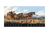 Sisters Oregon Stage Coach Pal 3079 Posters by Paul A Lanquist