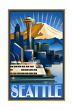 Seattle Sunrise PAL 0035 Photographic Print by Paul A Lanquist