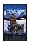 Denali National Park Sled Dogs Pal 3028 Prints by Paul A Lanquist