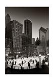 Chicago Park Skate BW Fotografisk tryk af Steve Gadomski