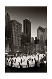 Chicago Park Skate BW Photographic Print by Steve Gadomski