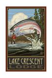 Lake Crescent Lodge RTFM Fisherman Pal 2992 Photographic Print by Paul A Lanquist
