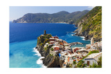 Coastal Town On A Cliff, Vernazza, Italy Photographic Print by George Oze