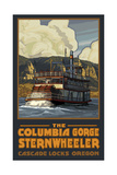 Sternwheeler Columbia Gorge Oregon Pal 128 Photographic Print by Paul A Lanquist