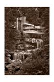 Steve Gadomski - Falling Water View BW - Fotografik Baskı