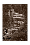 Falling Water View BW Photographic Print by Steve Gadomski