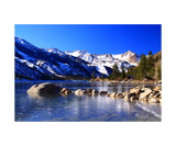 Lower Twin Lake And Sawtooth Ridge Photographic Print by Ronald A Dahlquist