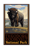Buffalo Theodore Roosevelt National Park Pal 797 Photographic Print by Paul A Lanquist