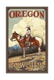 Oregon Summer Cowgirl Pal 089 Photographic Print by Paul A Lanquist