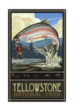 Yellowstone National Park Rainbow Trout Pal 774 Fotografie-Druck von Paul A Lanquist
