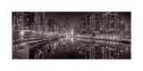 Chicago River East BW Photographic Print by Steve Gadomski