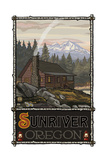 Summer Cabin Sunriver Oregon Pal 838 Photographic Print by Paul A Lanquist