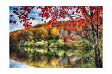 Crisp Fall Morning in Hunterdon County, New Jersey Photographic Print by George Oze