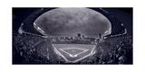 Wrigley Field Night Game Chicago BW Fotodruck von Steve Gadomski