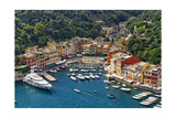 Portofino Harbor From Above, Liguria, Italy Photographic Print by George Oze