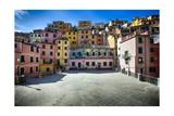 Square in Riomaggiore, Cinque Terre, Liguria, Italy Photographic Print by George Oze
