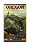 Oregon Big Mouth Bass Pal 1987 Affiche par Paul A Lanquist