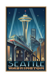 Space Needle Seattle Center Washington Pal 034 Poster by Paul A Lanquist