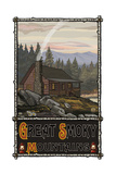 Great Smoky Mountains Summer Hill Cabin Pal 2602 Photographic Print by Paul A Lanquist