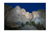 Mount Rushmore Nightfall Photographic Print by Steve Gadomski
