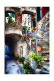 Rustic Alley In Corniglia, Cinque Terre, Italy Photographic Print by George Oze