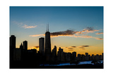 Chicago Skyline Silhouette Photographic Print by Steve Gadomski