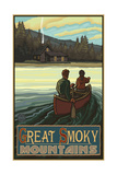 Great Smoky Mountains Lake Canoers Pal 2604 Photographic Print by Paul A Lanquist