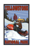 Snowmobile Yellowstone National Park Pal 299 Photographic Print by Paul A Lanquist