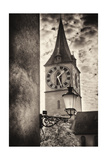 Clocktowwer of, St Peter Church, Zurich, Switzerland Photographic Print by George Oze