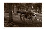Gettysburg Cannon B W Photographic Print by Steve Gadomski