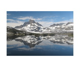 Banner Peak Reflected In Thousand Island Lake Photographic Print by Ronald A Dahlquist