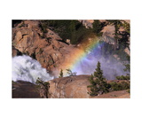 California Falls And Rainbow Photographic Print by Ronald A Dahlquist