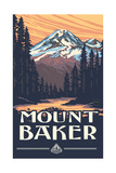 Mount Baker, Washington Pal 073 Photographic Print by Paul A Lanquist