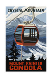 Crystal Mountain Gondola Winter Mt Rainier Photographic Print by Paul A Lanquist