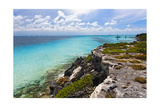 Isla Mujeres Shoreline at Punta Sur Mexico Photographic Print by George Oze