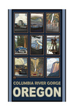 Columbia Gorge Oregon Collage Pal 1135 Photographic Print by Paul A Lanquist